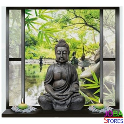 Diamond Painting Buddha in raam 30x30cm