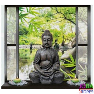 Diamond Painting Buddha in raam 30x30cm