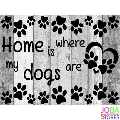 OP=OP Diamond Painting Home Dogs 40x30cm