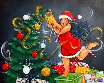 Diamond Painting Dikke Dames 13 40x50cm - vierkant *Kerst Tip*