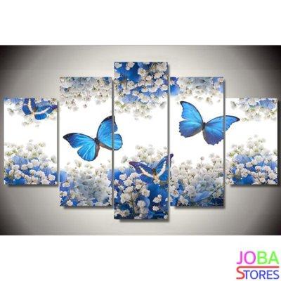 Diamond Painting Blauwe Vlinders 75x40cm