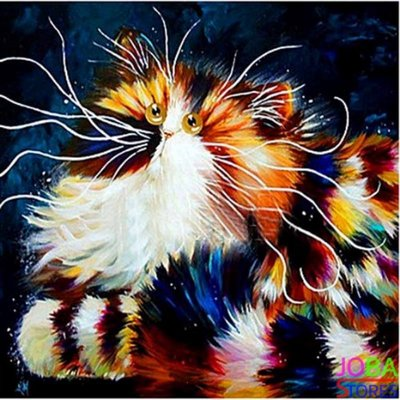 Diamond Painting Crazy Cats 07 30x30cm