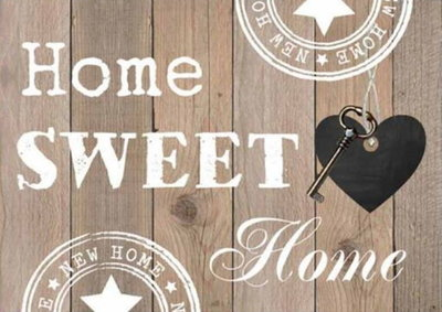 Diamond Painting Home Sweet Home 01 30x40cm