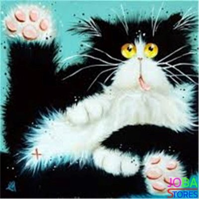 Diamond Painting Crazy Cats 05 30x30cm