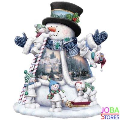 Diamond Painting Sneeuwpop 30x40cm