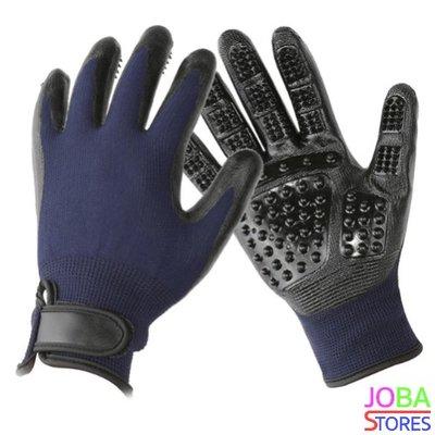 OP=OP Katten/Honden Grooming Handschoen Blauw (Linkshandig)
