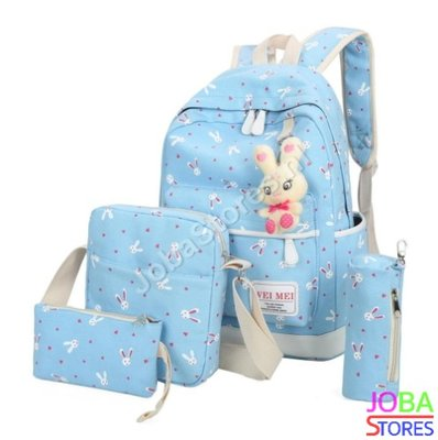 Schooltassen Set Bunny Licht Blauw (5-delig)