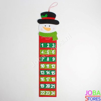 Kerst Advent Kalender Smal Sneeuwpop