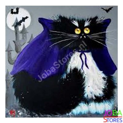 Diamond Painting Crazy Cats 09 30x30cm