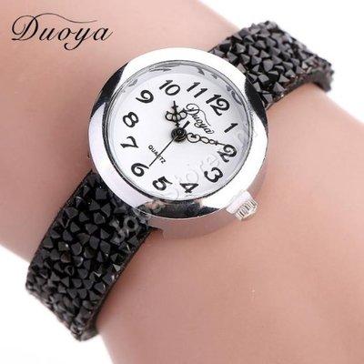 Horloge Duoya Zwart in geschenkdoosje