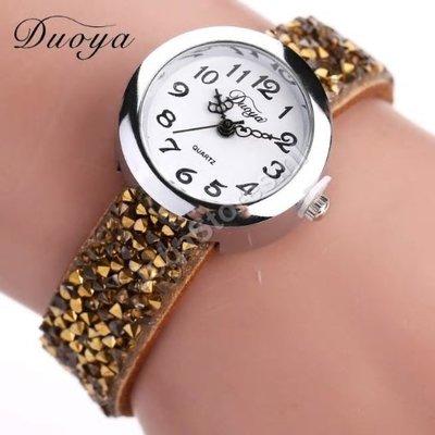 Horloge Duoya Beige in geschenkdoosje