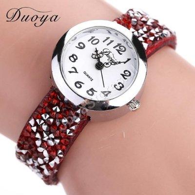 Horloge Duoya Rood in geschenkdoosje