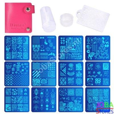 Nagellak Stempel Set (12 stempelplaten) inclusief opbergmap