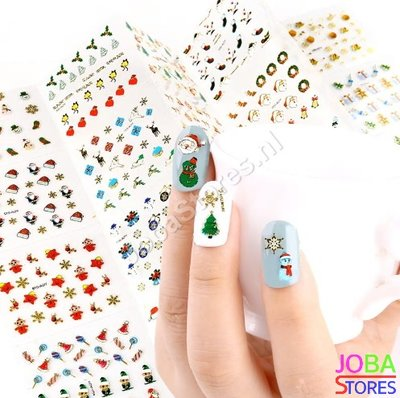 Nagel Sticker Set Kerst (24 vellen)