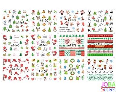 Nagel Sticker Set Kerst