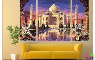 OP=OP Diamond Painting Taj Mahal 3 luiks 80x50cm