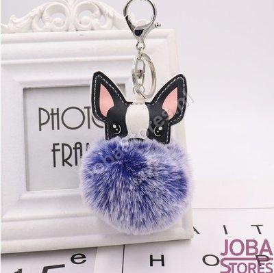 Pom Pom Sleutelhanger Hond Blauw