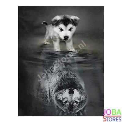 OP=OP Diamond Painting Pup-Wolf 40x50cm