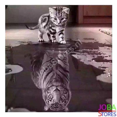 Diamond Painting Kitten-Tijger 40x40cm