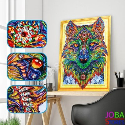Diamond Painting *Special* Wolf 005 40x50cm - incl. frame