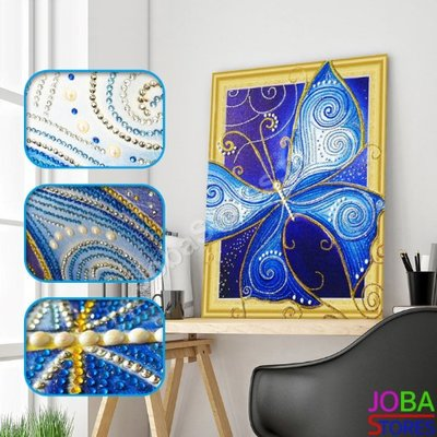 Diamond Painting *Special* Vlinder 006 40x50cm - incl. frame