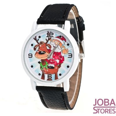 Kerst Horloge 01 Zwart
