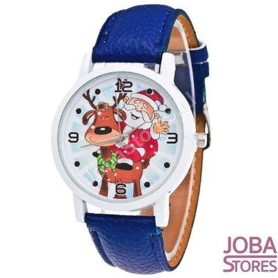 Kerst Horloge 01 Blauw