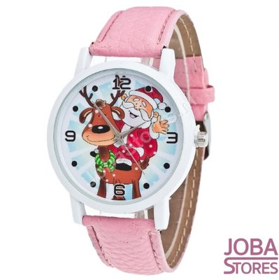 Kerst Horloge 01 Licht Roze