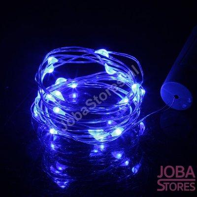 Mini Led Verlichting Kurk 20 leds Blauw