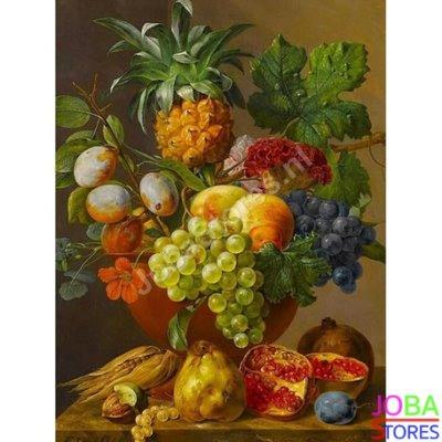 Schilderen op nummer Fruitschaal 40x50cm (inclusief lijst)