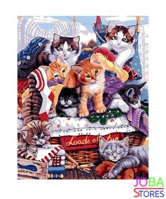 Schilderen op nummer Kittens 40x50cm (inclusief lijst)