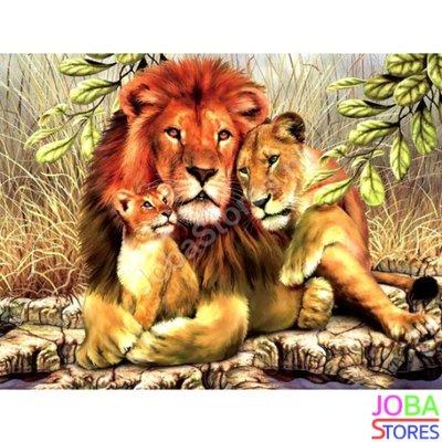 OP=OP Diamond Painting Leeuwen 40x50cm