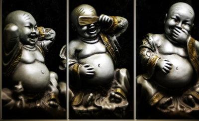 OP=OP Diamond Painting Horen-Zien-Zwijgen Buddha 120x60cm