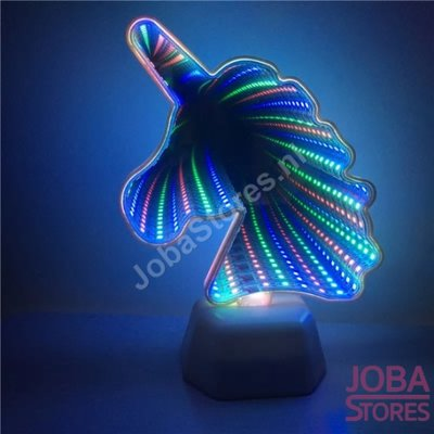 3D Illusie Tunnel Lamp Eenhoorn