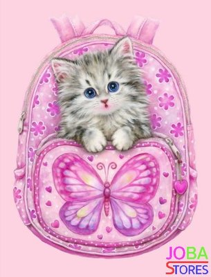 Diamond Painting Tas met kitten 30x40cm