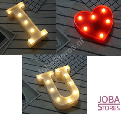 Letter Lampen Set I Love You