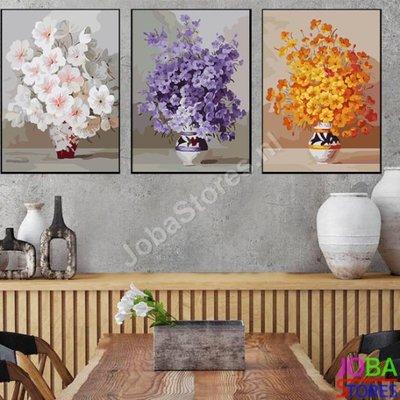 OP=OP Schilderen op nummer Bloemen 3 luiks 001 40x50cm x3