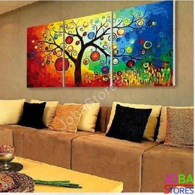 OP=OP Schilderen op nummer Gekleurde Boom 3 luiks 40x50cm x3