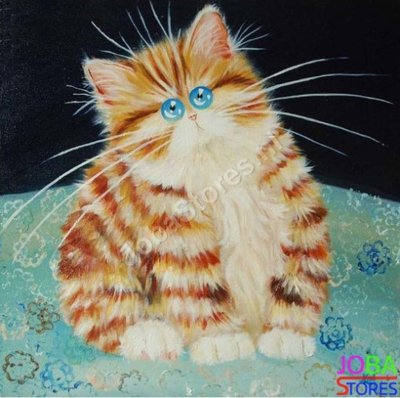 Diamond Painting Crazy Cats 13 30x30cm