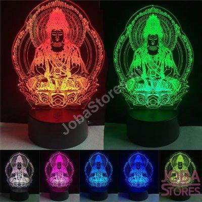 3D Illusie Lamp Indian Buddha (7 kleuren instelbaar)