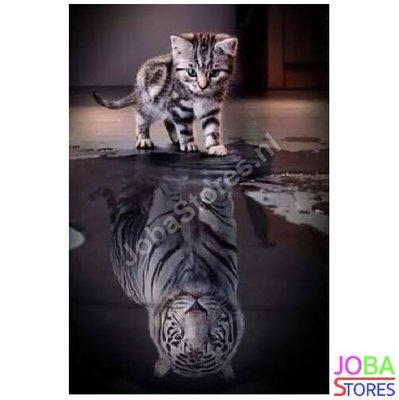 Diamond Painting Kitten-Tijger 30x40cm