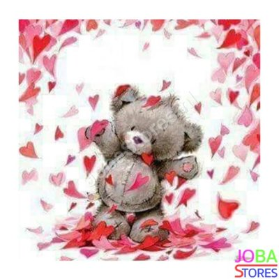 Diamond Painting Teddy Love 30x30cm