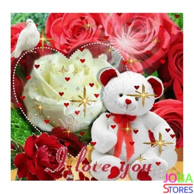 Diamond Painting Teddybeer I Love You 40x40cm