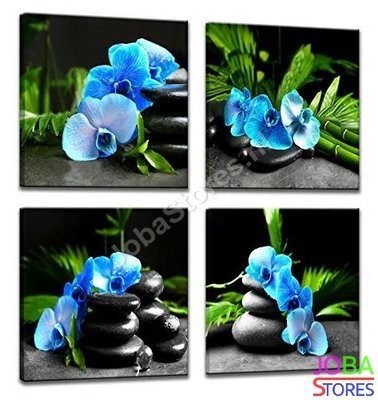 Diamond Painting Blauwe Orchidee 4 luiks