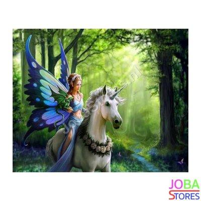 Diamond Painting Fee op paard 40x50cm