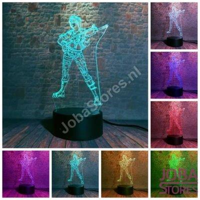 OP=OP 3D Illusie Lamp Woman Soldier (7 kleuren instelbaar)
