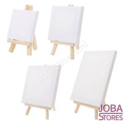 Mini Schilder Canvas op ezel C (15x15cm)