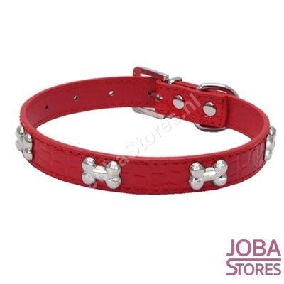Honden Halsband Botjes Rood L