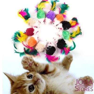 Katten Speelgoed Muisjes Set van 10 stuks