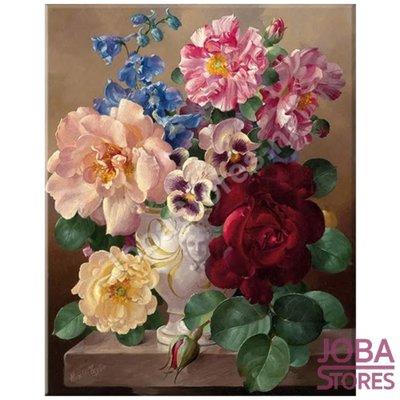 Schilderen op nummer Kleurrijke Bloemen 40x50cm